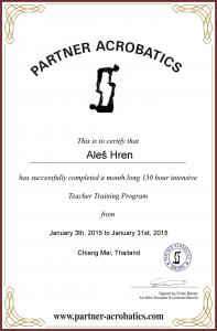 Aleš Hren certificate